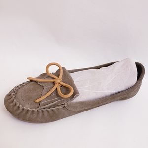 Lucky Brand Leather Anchor Loafer, Sz 8